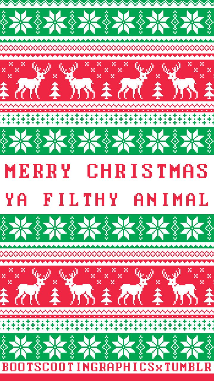 Merry christmas ya filthy animal tumblr phone wallpaper - Christmas iphone backgrounds tumblr ...