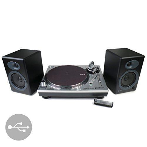 cool Audio-Technica: AT-LP120-USB Turntable + Audioengine A5+ Speakers Package - Black
