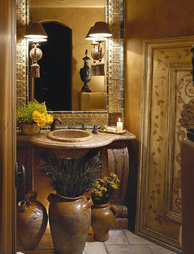 17 best images about tuscan mediterranean decorating for Tuscan style bathroom designs