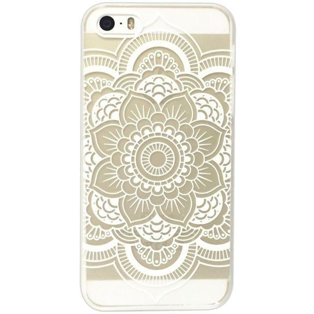 COQUE DENTELLE BLANCHE RIGIDE  IPHONE 5/5S TRANSPARENTE, dispo pour tous types d'Iphone et Galaxy, cliquez sur l'image pour shopper #bazarchic #mode #fashion #case #coque #iphone #galaxy #samsung #apple
