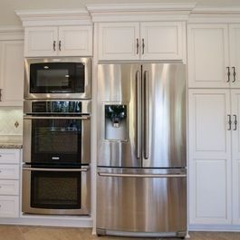 Image Result For Remodel Kitchen With Refrigerator Beside