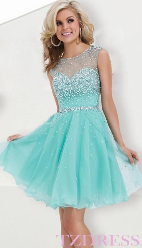 beautiful light blue Homecoming Dress, $156