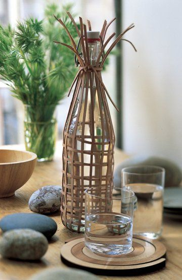 leather covered carafe