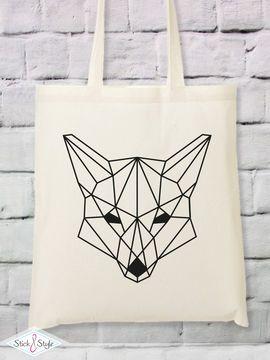 Geometrischer Fuchs zum Plotten - Plotterdatei via Makerist.de