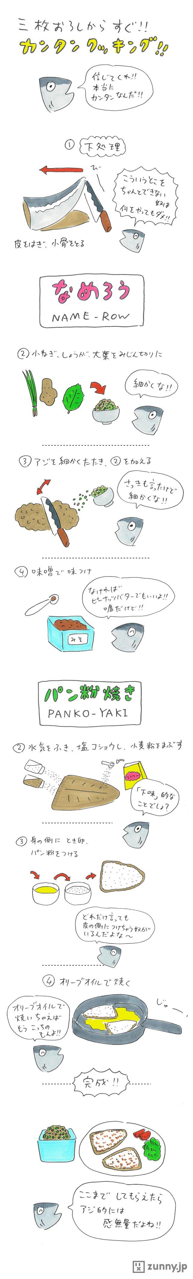 次ページではいよいよアジを料理!