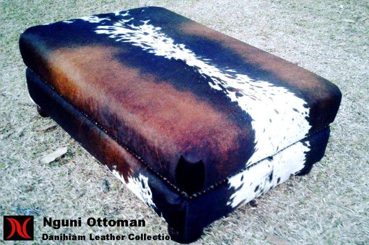Nguni Ottoman #danihiam Danihiam Leather Collection www.dlcleather.co.za info@dlcleather.co.za