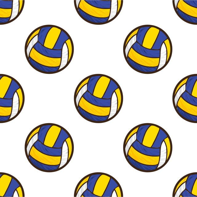 Volley Ball Seamless Pattern Volleyball Clipart Activity Athletic Png And Vector With Transparent Background For Free Download Gambar Bola Voli Bola Voli Gambar