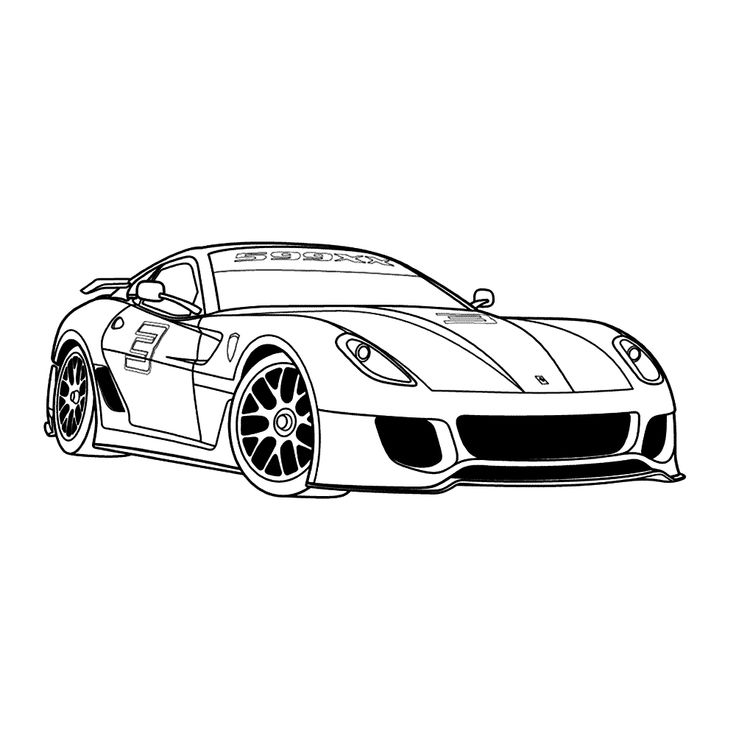 Leuk Voor Kids Kleurplaat ~ Ferrari 599