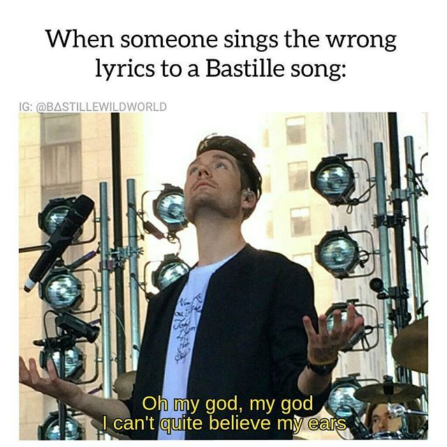 It's OK if it's a new song and everyone is still learning it but if it's a popular one like Pompeii or Good Grief there is no excuse.