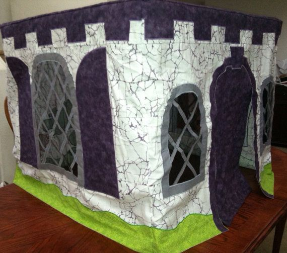 Magical dragon castle table tent on Etsy, $150.00