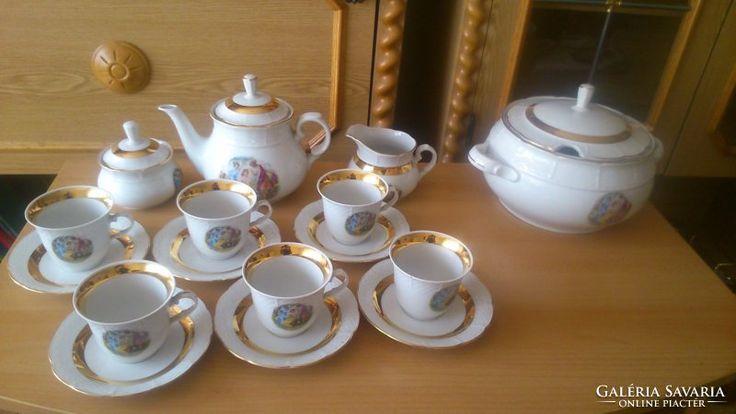 Csehszlovák porcelán étkészlet
