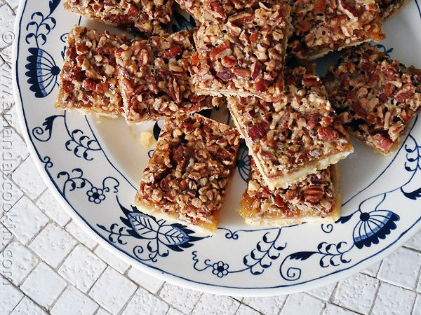 Pecan Pie Bars - These are really good!  Everyone loves them!
