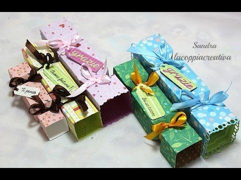 Candy box tutorial con Envelope punch board-Candy cracker box-Scatole fai da te-Scatole caramella - YouTube