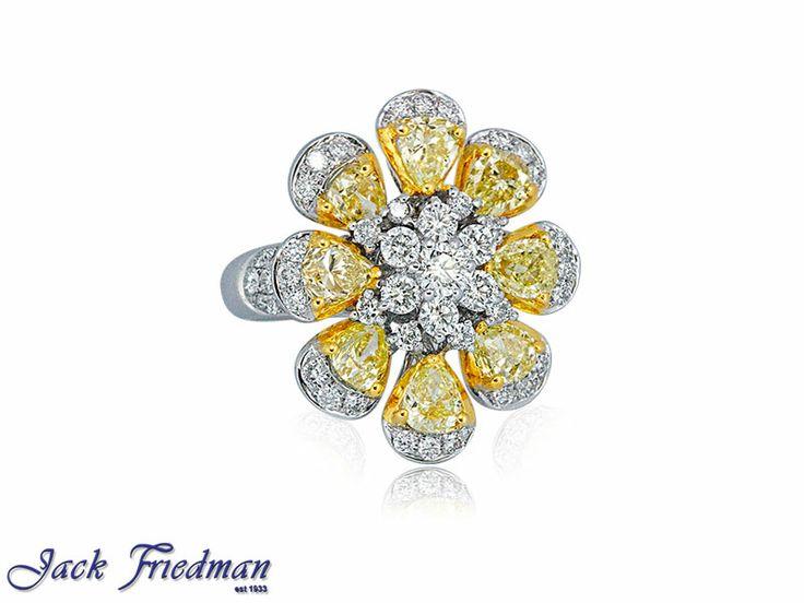 white and yellow diamond flower design jackfriedman.co.za
