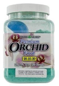 Grow More 5271 10-Ounce Orchid Food 20-10-20 by Grow More. $8.98. 20-10-20. 10-ounce. Orchid food. Good nitrogen availability under a wide range of temperature and climate conditions. Urea free. Grow more 5271 10-ounce orchid food 20-10-20. Save 31%!