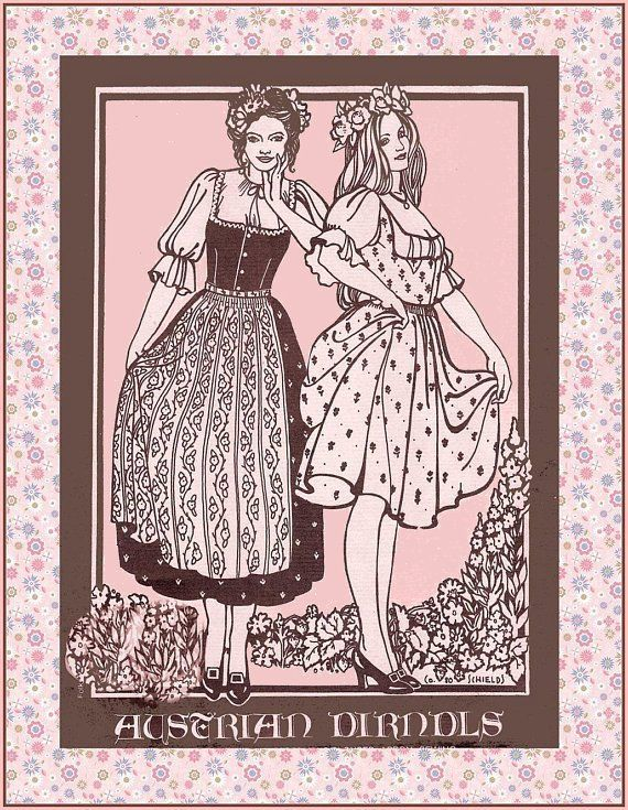 Vintage 1982 Authentic Austrian Dress Sewing Pattern Multi Styles