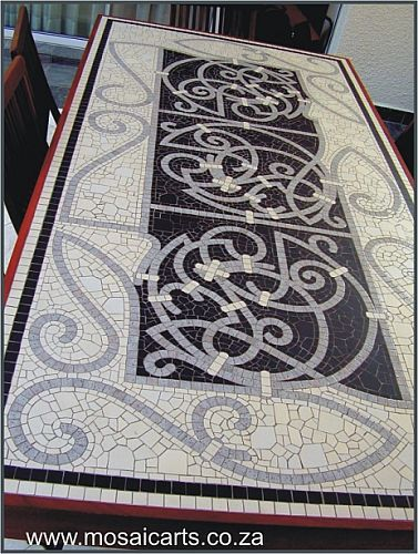 Decorative mosaic - table