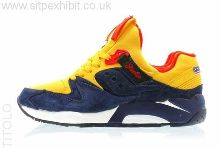 Packer Shoes x Saucony Grid 9000 Snow Beach Navy/Yellow Outlet