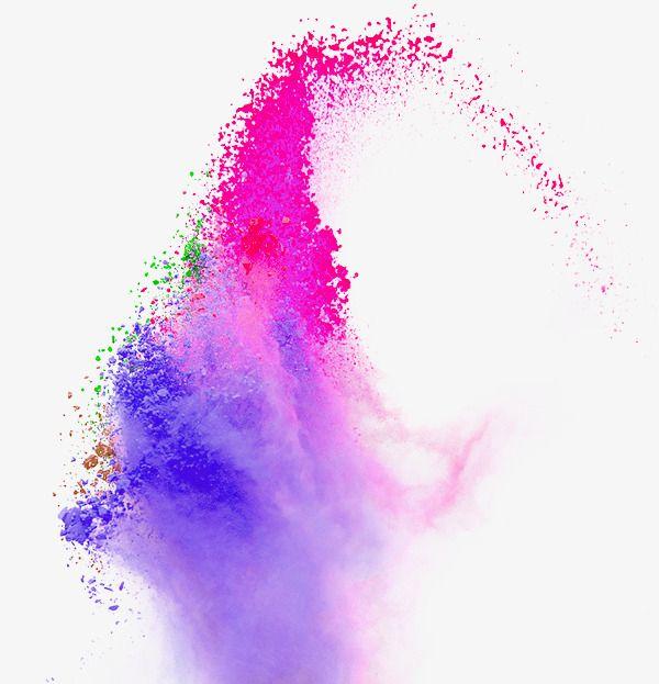 الأرجواني فرش الألوان المائية تأثير العنصر Color Splash Art Color Splash Splash Images