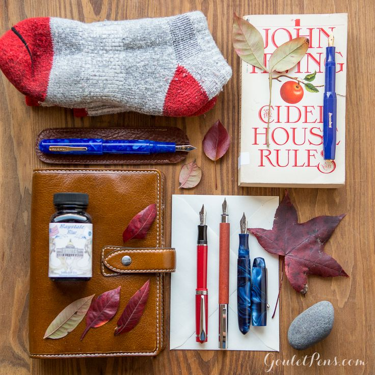 This fountain pen collection is inspired by the beautiful fall colors of the Northeast. Check out Thursday Things - New England Autumn. Pin for later.
