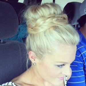 braid around bun