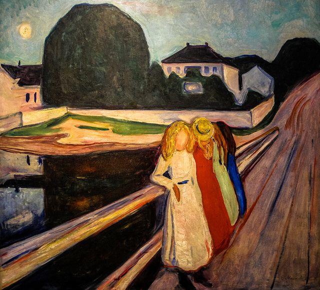 Edvard Munch - Four Girls on the Bridge, 1905