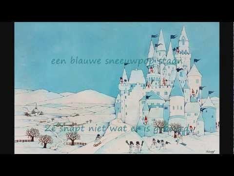 Liedje voor in de winter over een blote koning die een blauwe sneeuwpop wordt.