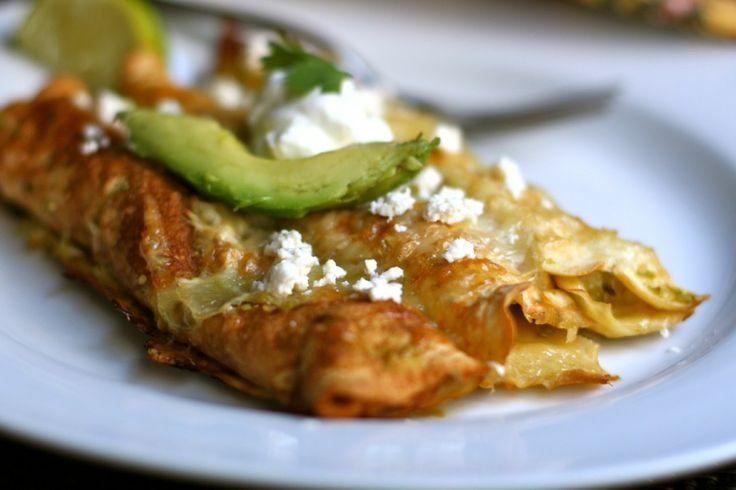 Chile Verde Chicken Enchiladas - Against All Grain