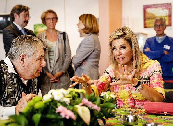 22-8-2017 Queen Maxima visited the Kansfonds in Delft