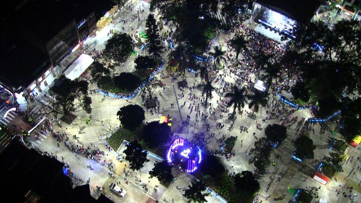 Foto aérea el dia de la inauguración.