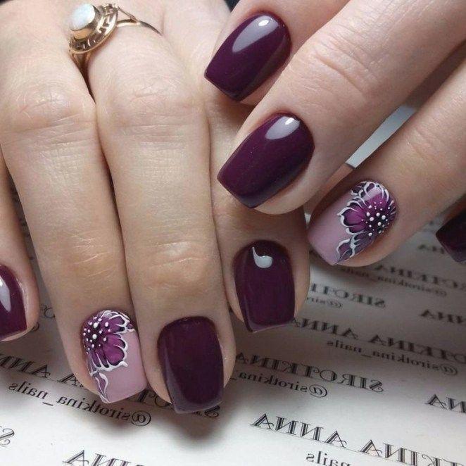 Modele Unghii 2019 6 Purple Nail Art Organic Nails Fall Nail Art Designs