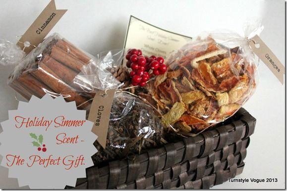 DIY Simmer Scent Gift Basket–For Christmas Or Hostess
