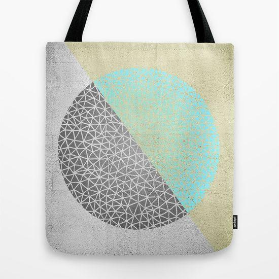 Geometric doodle Gold Tote Bag