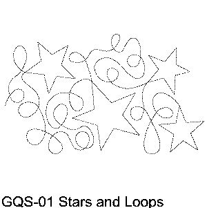 Stars and Loops Free Machine Quilting Pattern