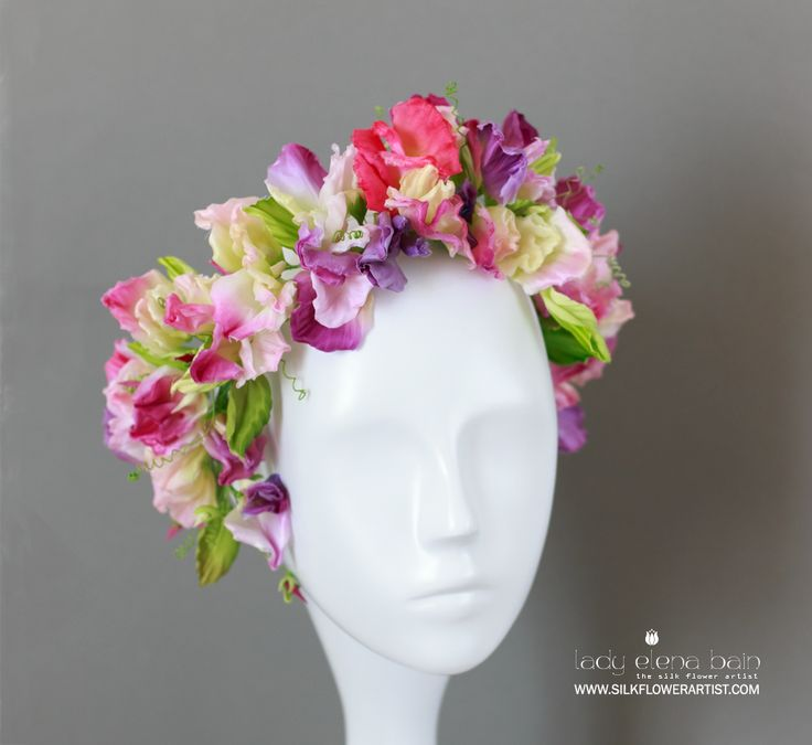 243 best couture silk flowers images on pinterest sweet pea video tutorial httpsilkflowerartistsweetpea mightylinksfo Gallery