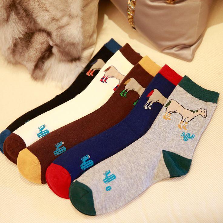 Ark Royal Cotton Men Socks Stockings Mixed Color Socks 5 Pairs/lot Crew Socks Causal Stockings Wholesale Socks #Affiliate