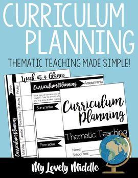 Curriculum Planner: Thematic Instruction #curriculumplanner #ela