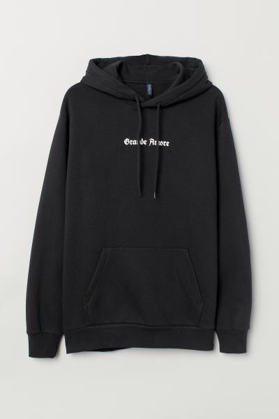 43def7638 H&M Hooded Sweatshirt - Black   Fresh hoods   Hooded sweatshirts ...