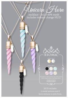 .Atomic. {Unicorn Horn} Necklace