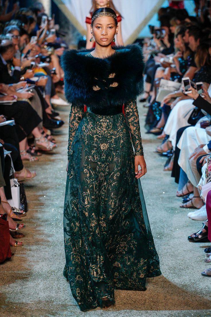 Elie Saab Fall 2017 Couture Fashion Show - Lineisy Montero (Next)