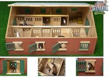 Large Wooden Model Horse Stable -Kids Globe 0595- Toy Farm Animal Building 1:24