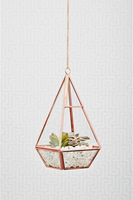obsessed with this rose gold terrarium