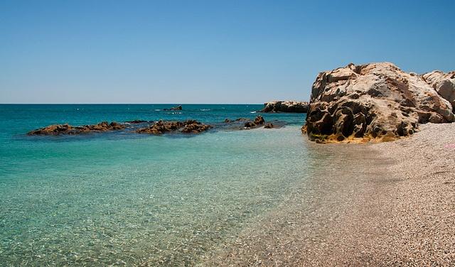 Beautiful day at Playa de Punta Chullera. Manilva, Spain
