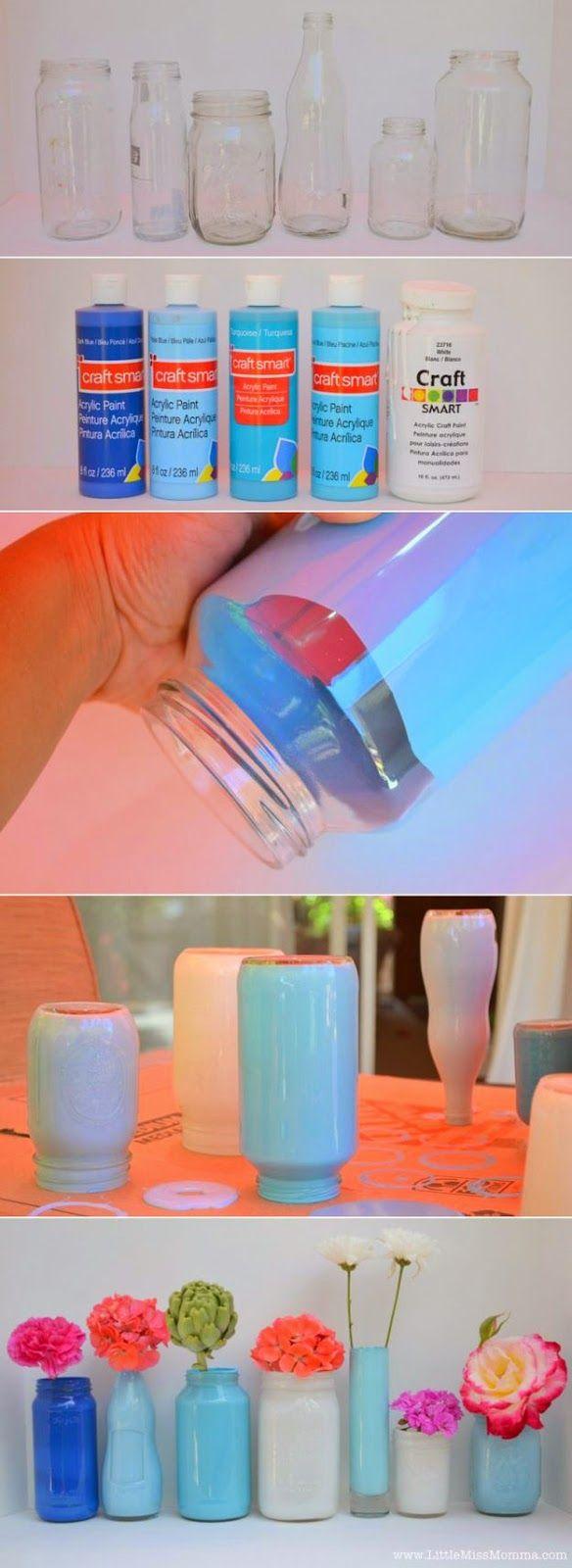 Κατασκευές από γυάλινα βάζα