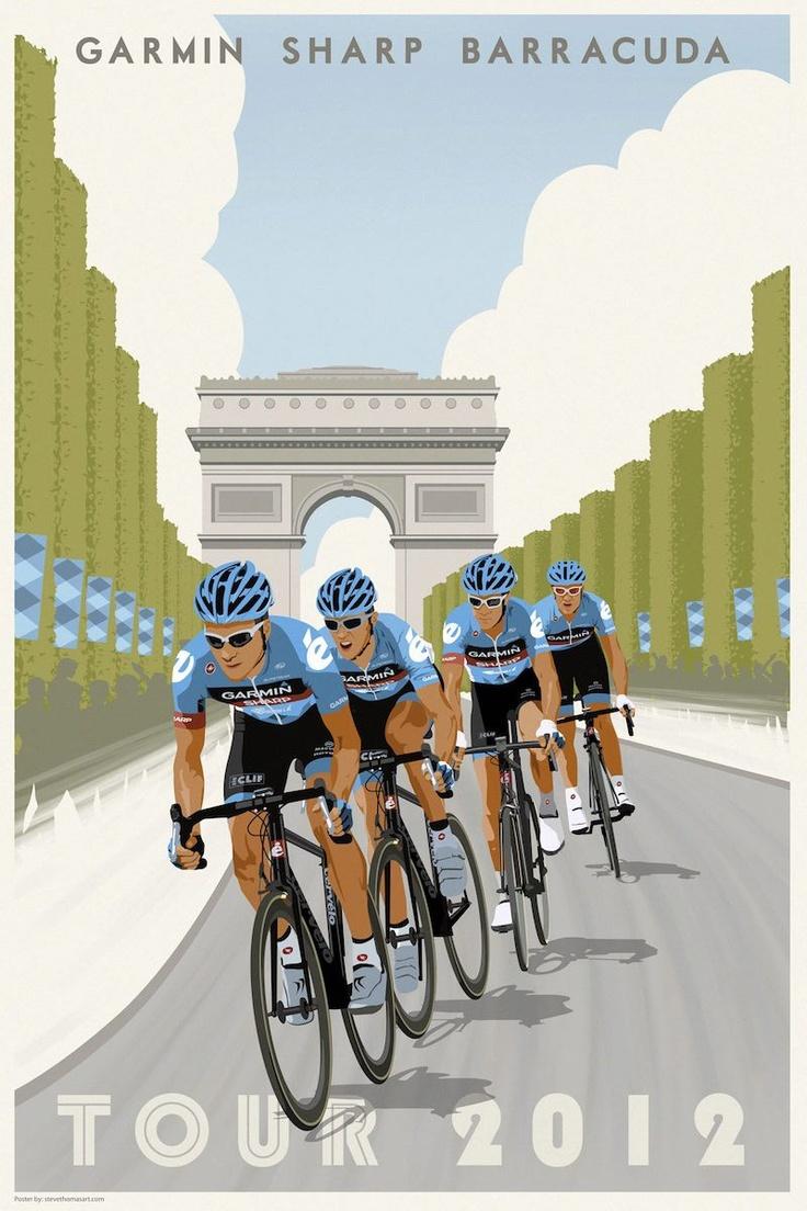 Team Poster - Garmin-Sharp-Barracuda, 2012