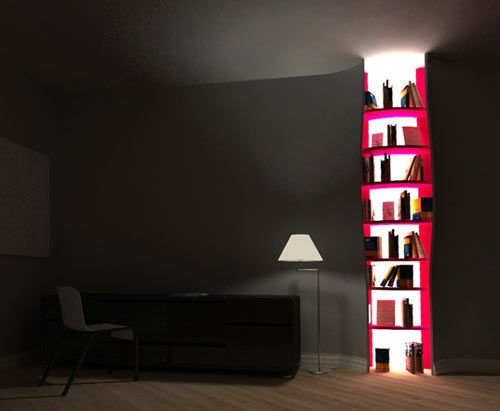 Cut Shelves   This Unique Solution Lets You Find Your Favorite Book At  Night Without Waking Up The Whole Family. Designer:Tembolat Gugkaev) Via 33  Creative ...