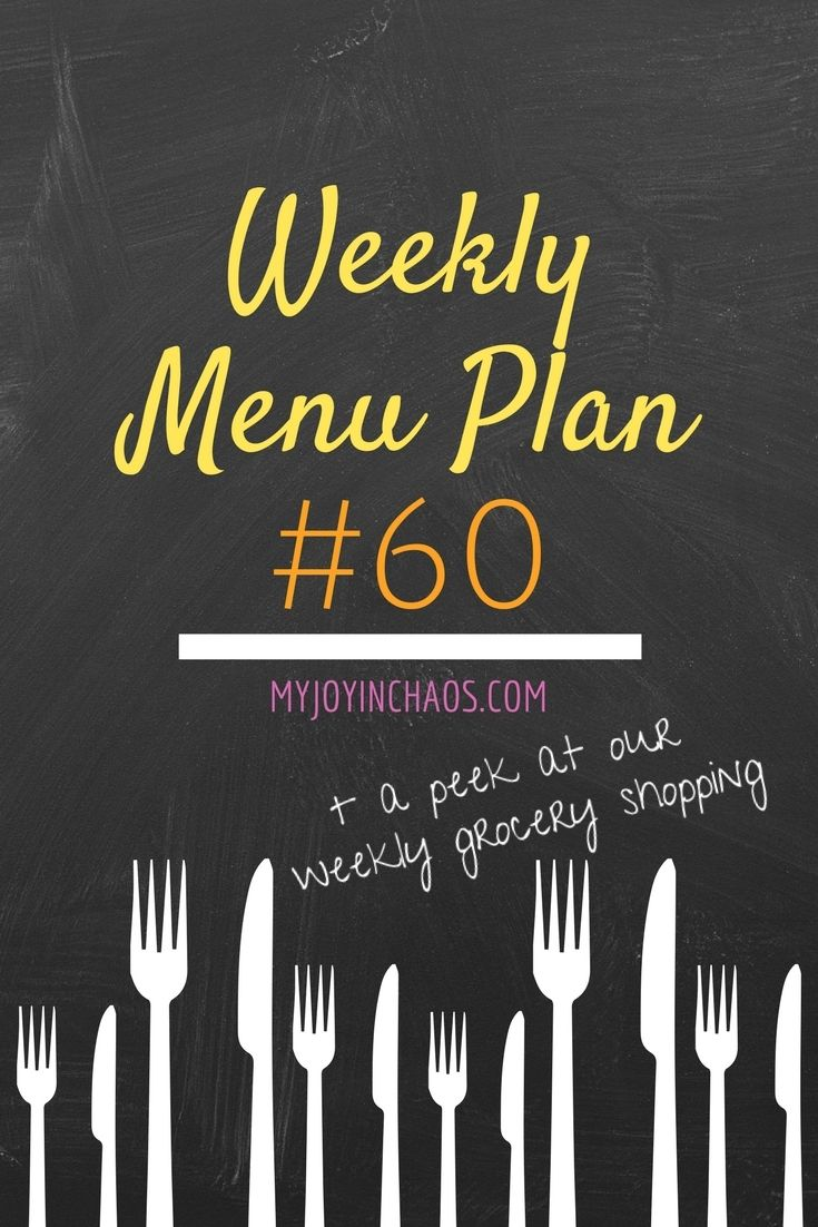 Weekly Menu Plan #60 + a peek at our weekly grocery spending | grocery budget | weekly shopping | grocery list | family of seven