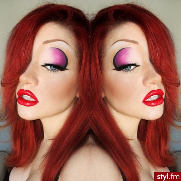 jessica rabbit halloween make up                                                                                                                                                                                 More