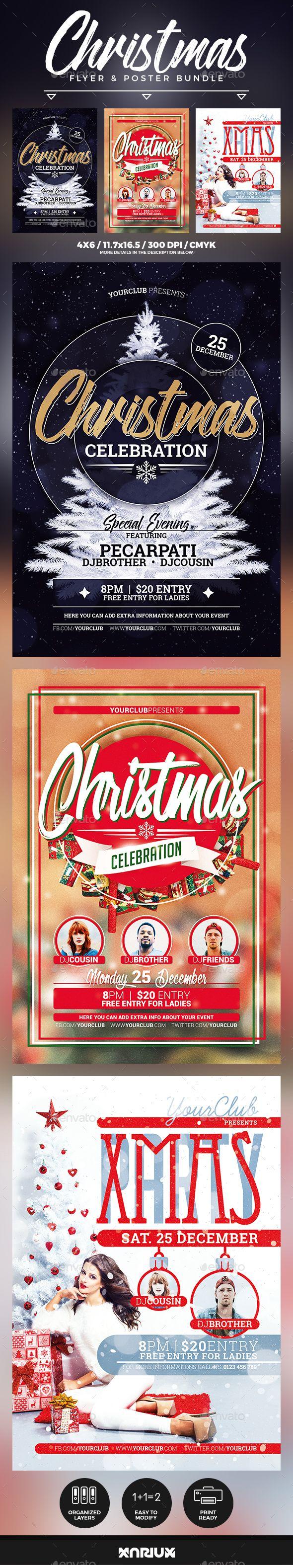 Christmas Flyer & Poster Bundle Template