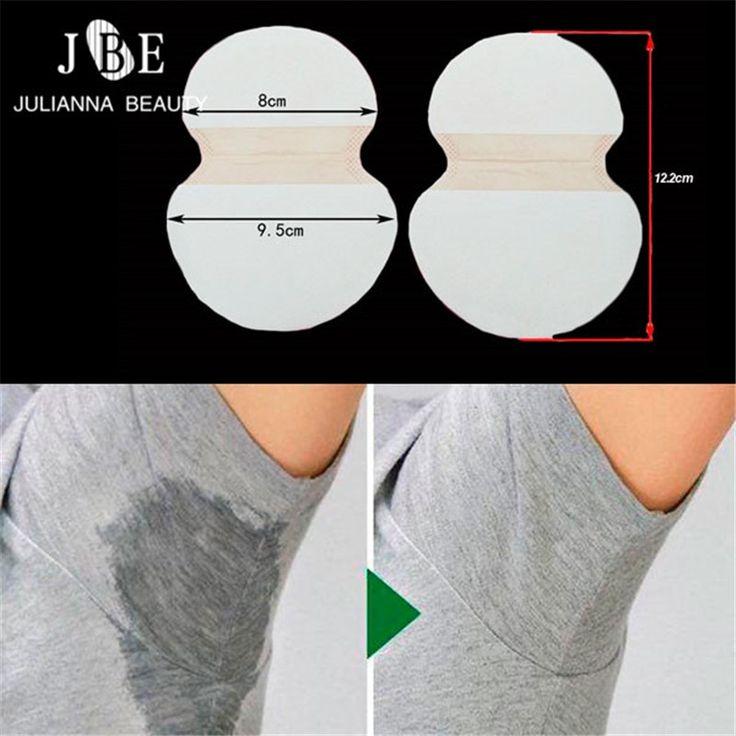 8.48$  Know more - 100pcs=50Pairs/lot Underarm Cotton Sweat Pads Disposable Armpits Antiperspirant Unisex Absorbing Deodorant Stickers Guarda Roupa   #buyonlinewebsite